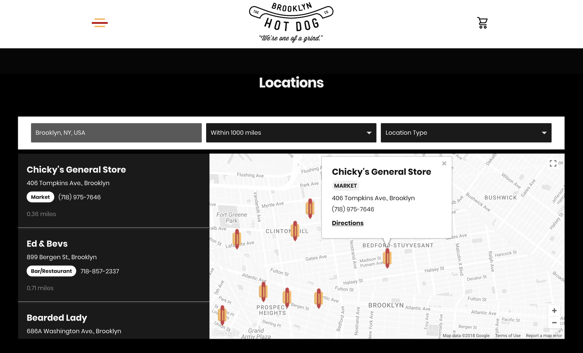 Squarespace store locator example