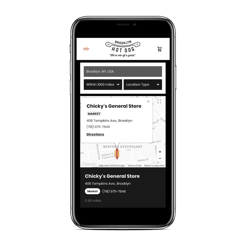 storepoint store locator on mobile
