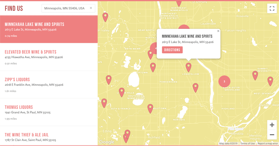 Customized WordPress store locator widget